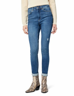 Pieces Women's Pchighfive Delly B184 Hw Skn JNS Mb Skinny Jeans