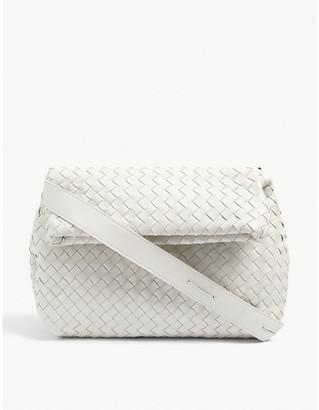 Bottega Veneta Intrecciato leather cross-body flap bag