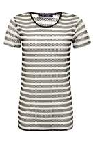 Select Fashion Fashion Womens Grey Mono Stripe Oversized Tee - size 10