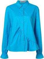 Preen by Thornton Bregazzi ruffle detail shirt - women - Cotton - S