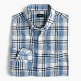 J.Crew End-on-end cotton-linen shirt in plaid