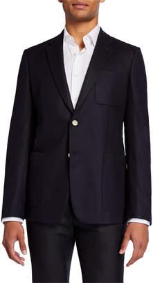 Valentino Men's Notch Lapel Wool-Blend Blazer