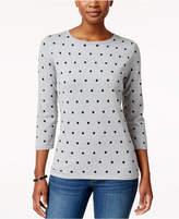Karen Scott Dot-Print Sweater, Only at Macy's