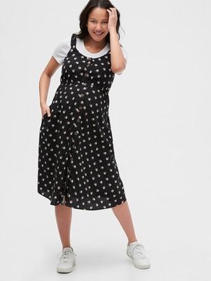Gap Maternity Button-Front Tank Dress