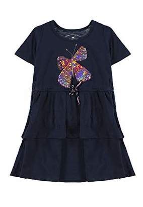 Tom Tailor Kids Girl's Dress Placed Print,104 (Size: 104/110)