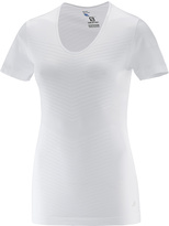 Salomon White Elevate Seamless Short-Sleeve Tee - Women