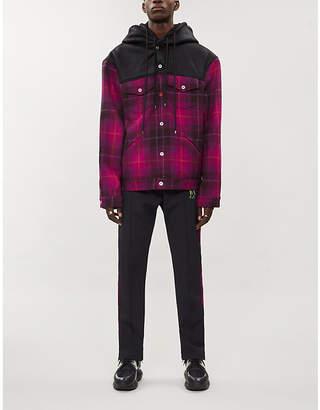 Burton MJB - MARC JACQUES Tartan faux-leather and wool jacket
