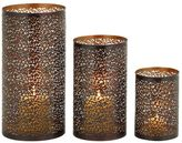 Perforated Metal Lattice Hurricane Candle Holder 3-piece Set