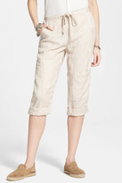 Free People Linen Crop Utility Pant