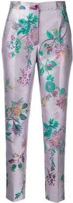 Etro Floral Tapered Trousers