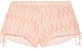 Eberjey Morgan Printed Voile Shorts - Blush