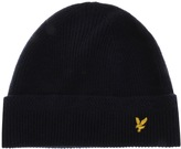 Lyle & Scott Racked Rib Beanie Hat Navy