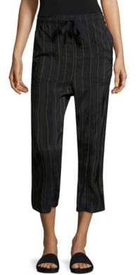 Vince Regiment Striped Paper Bag Pants