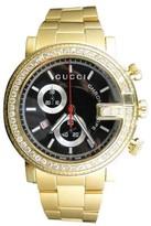 Gucci Ya101334 101 G Gold PVD Real 44mm Diamond Mens Watch