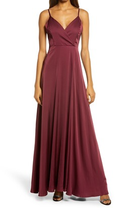 Lulus Ode to Love Satin Evening Gown