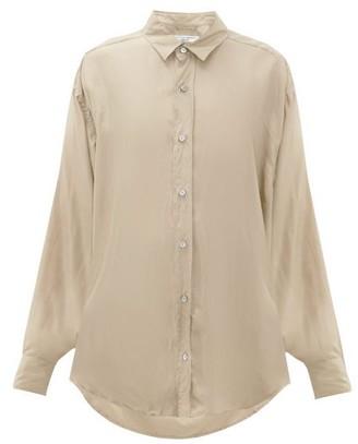 Katharine Hamnett Nicola Silk-satin Shirt - Womens - Beige