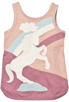 Stella McCartney Dusty Rose Unicorn Patch Dress