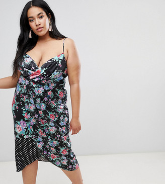 ASOS DESIGN Curve mixed print midi dress