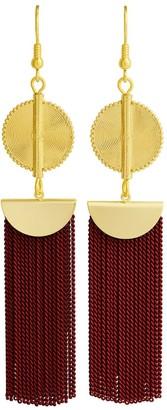 Aflé Bijoux Afle Bijoux Akan Chain Earrings - Burgundy