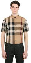 Burberry Macro Check Cotton Short Sleeve Shirt