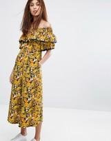Whistles Nadia Citrus Print Bardot Jumpsuit