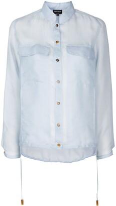 Giorgio Armani Sheer Oversized Shirt