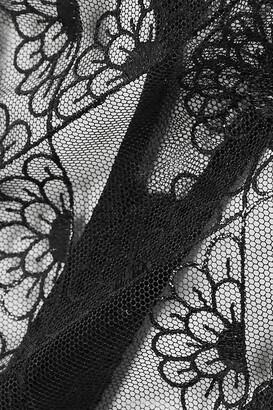Coco de Mer Evita Scalloped Lace And Stretch-satin Thong - Black