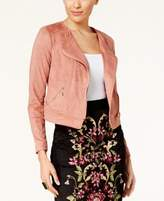 Thalia Sodi Faux-Suede Moto Jacket, Created for Macy's