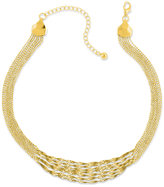 2028 Necklace, Gold-Tone Twisted Multi-Chain Strand Necklace