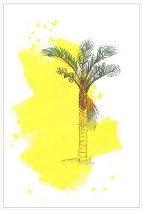Jonathan Bass Studio Palm 1, Decorative Framed Hand Embellished Canvas