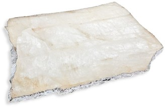 Anna New York Kiva Large Silverplated Crystal Platter