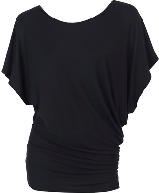 Me&Thee Dark Horse Black Bamboo V Back Tee