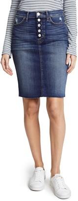 Hudson Women's REMI HIGH Rise Denim Pencil Skirt