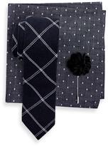 Original Penguin Charlotte Check Tie, Pocket Square, & Lapel Pin 3-Piece Set