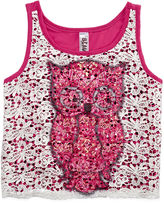 Knitworks Knit Works Beautees Crochet-Front Tank Top - Girls 7-16