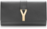 Saint Laurent Black Leather Y Clutch