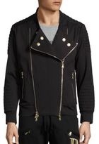 Pierre Balmain Zip-Front Moto Jacket