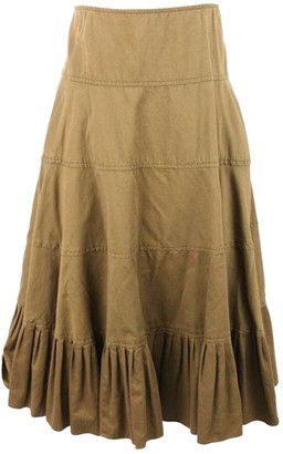 Ralph Lauren Khaki Cotton Skirt for Women