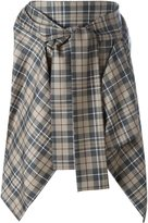 Vivienne Westwood checked pointy asymmetric skirt