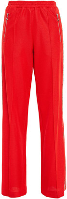 Area Crystal-embellished Woven Flared Pants