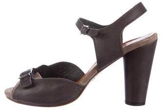 Chie Mihara Leather Ankle Strap Sandals