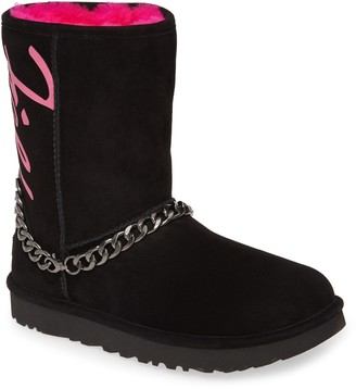 UGG Perfect Pairs Classic Genuine Shearling Lined Short Chain Boot