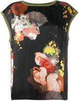 Dries Van Noten Haggin floral print top with contrasting back