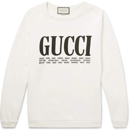 Gucci Printed Cotton-Jersey Sweatshirt