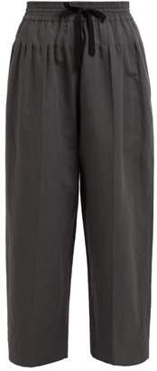 Haider Ackermann Brighton Pintuck Cotton Blend Trousers - Womens - Grey