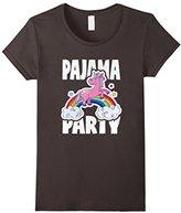 Men's Pajama Party Retro Cute Unicorn Rainbow Bed Time PJ T-Shirt Small