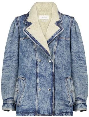 Etoile Isabel Marant Lucinda faux shearling denim jacket