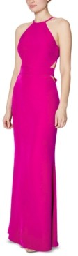 Laundry by Shelli Segal Crepe Cutout Gown