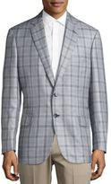 Brioni Plaid Long Sleeve Sport Coat
