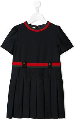 Gucci Kids Striped Trim Dress